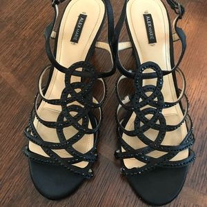 Black Alex Marie Strappy Heels